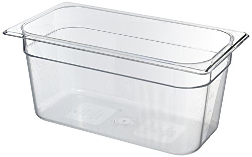 Rubbermaid Clear Hanging - Rubbermaid Commercial Products FG118P00CLR Cold Food Pan, 1/3