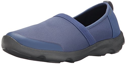(Crocs Women's Duet Busy Day 2.0 Satya A Line Flat, Bijou Blue/Graphite, 9 B(M) US)