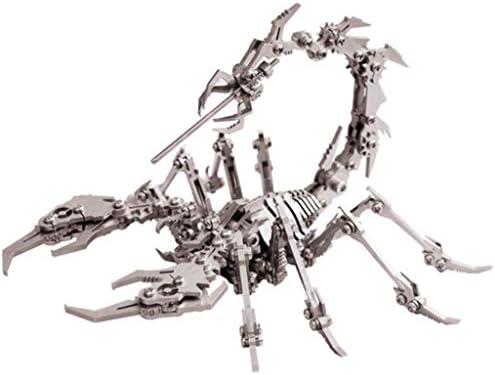 困難なおもちゃの3Dメタルモデルキットパズルジグソーパズル組み立てモデル3次元大人の女性の少年手動機械組み立て - スコーピオン
