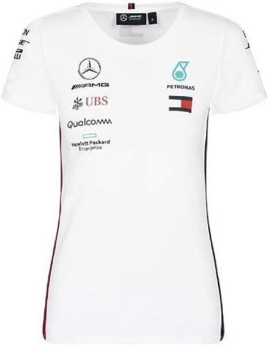 NEUF 2019 Mercedes AMG F1 Femme Équipe Lewis Hamilton T Shirt Top Tee Blanc
