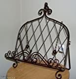 Iron Cookbook Stand ~ Book Holder Adorned with Bird