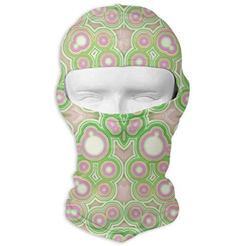 (SWIJHAN Ink and Pastel Green Agate Spots Wallpaper Balaclava Face Mask Breathable Outdoor Sports Motorcycle Cycling Snowboard Hunting Ski)