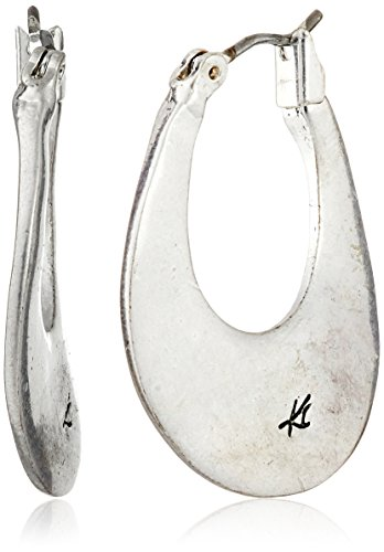 Kenneth Cole New York Silver Small Hoop Earrings