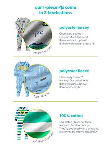 سعر Simple Joys by Carter's Baby and Toddler Boys' 3-Pack Loose Fit Fleece Footed Pajamas