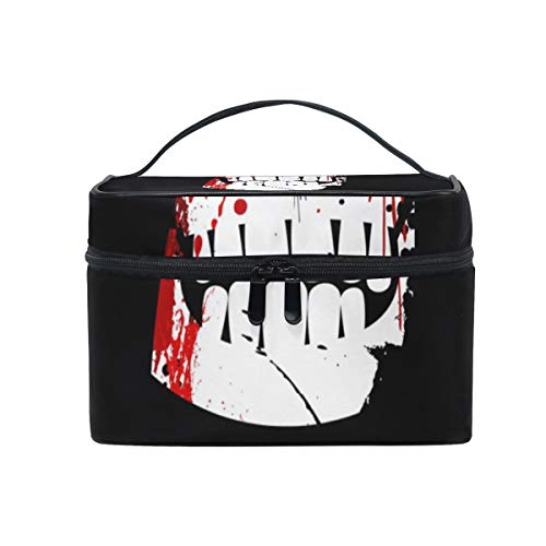 OREZI Halloween Party Cosmetic Bag Large Multifunction Makeup Travel Toiletry Travel Kit Organizer Case with Quality Zipper Portable for Makeup Bag for Women ()