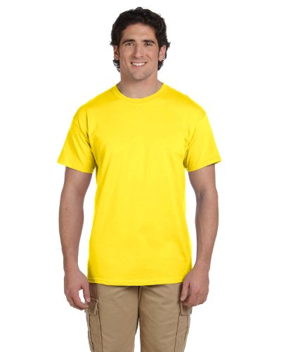 Fruit of the Loom 5 Oz, 100% Heavy Cotton HD T-Shirt, Large, Yellow ()