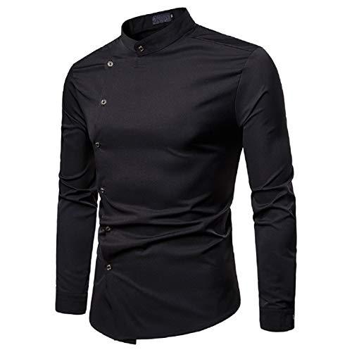 FAPIZI Men's Standard Regular-fit Long-Sleeve Shirt Turndown Collar Breathable Quick Dry Casual Tops Hippie Shirts