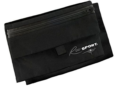 """The RooSportPLUS BLACK Magnetic Running Pocket - Designed for iPhone6Plus/Samsung NOTE The Original Magnetic Pocket, (Don't confuse w/Running Buddy/Buddy Pouch Attachable, Water-resistant, Magnetic Running Pouch Not a Running Belt! Go Beltless! Great for Runners, Walkers, Cyclists, Hikers, & Travelers 7.5x4.5"""" 1.7 oz"""