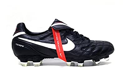 Nike Women's Tiempo Legend III FG Soccer Cleats (7.5, Black/White-Challenge Red)