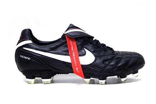 Nike Women's Tiempo Legend III FG Soccer Cleats (7.5, Black/White-Challenge Red) by NIKE