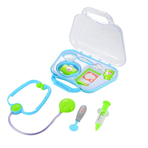 ThinkMax Play Doctor Kit, Doctor Medical Kit Pretend Play Toys for Kids (Blue/Green Random Delivery)