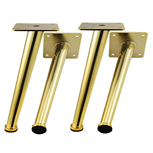 Long Sofa Legs, Metal Oblique Furniture Feet, Electroplated Imitation Gold, Felt Pad Floor Protector by Furniture legs (Image #8)