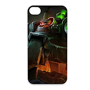 Urgot-003 League of Legends LoL case cover for Apple iPhone 4 / 4S - Plastic White