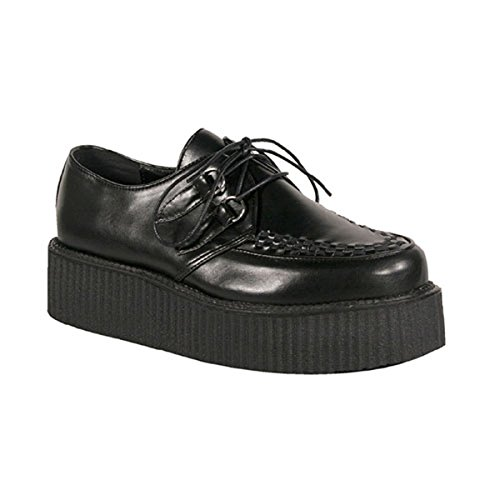 2-Inch-Mens-Platform-Shoe-Gothic-Punk-Lace-Up-Oxfords-Veggie-Creeper-Shoe-Black