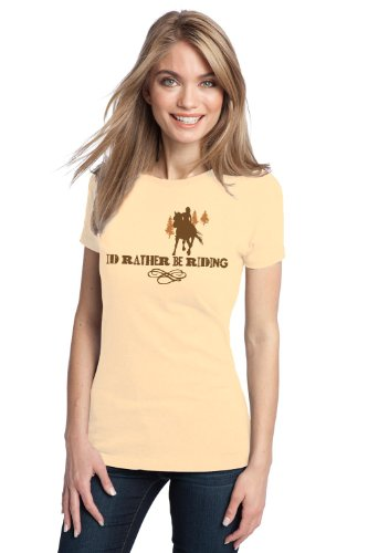 I'D RATHER BE RIDING Ladies' T-shirt / Horse Riding, Jumping Equine Lover 4H Tee