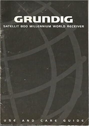 Grundig sattelit 800 millennium radio with grundig headphones and.