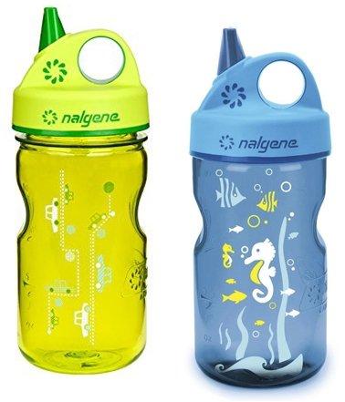 Nalgene Grip-N-Gulp Water Bottle 2 Pack