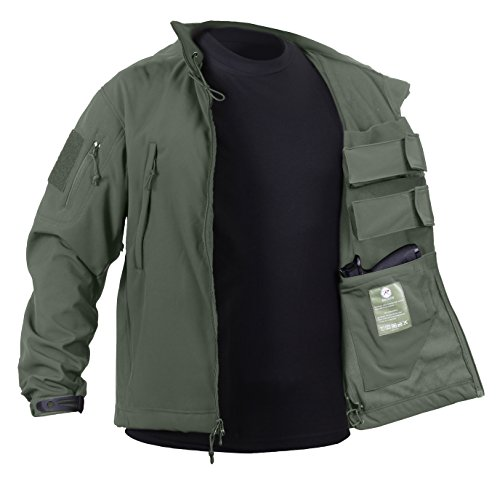 Rothco Concealed Carry Soft Shell Jacket, Olive Drab, (Motion Soft Shell Jacket)