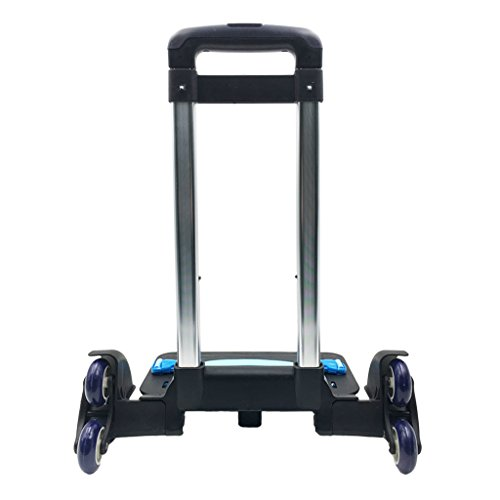 Amazon.com | Backpack Trolley - Wheeled Trolley Hand Aluminium Alloy Non-folding Trolley Cart for Backpack (Blue, 6 Wheels) | Luggage Carts