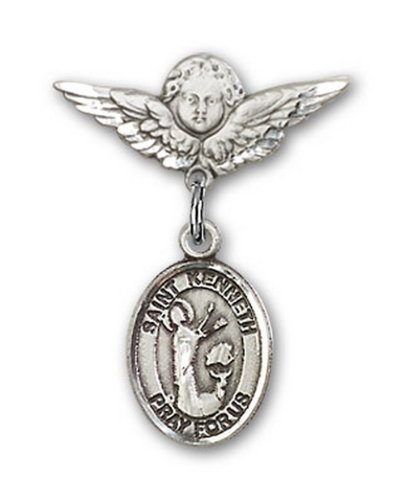 Icecarats Créatrice De Bijoux En Argent Sterling St. Kenneth Charme Ange Pin Badge 7/8 X 3/4