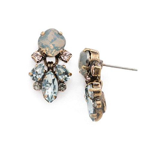 Sorrelli Coastal Mist Frequent Flyer Blue Mix Antique Goldtone Post (Sorrelli Designer Earrings)