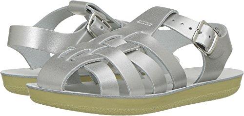 - Salt Water Sandals by Hoy Shoe Girls' Sun-San Sailor Flat Sandal, Silver, 6 M US Toddler