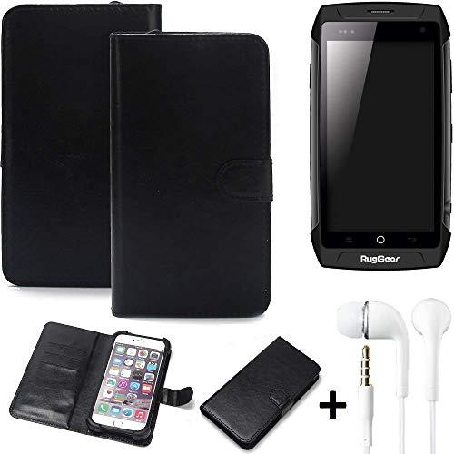 K-S-Trade Wallet Case Handy Hülle Kompatibel Mit Ruggear RG730 Schutz Hülle Smartphone Flip Cover Flipstyle Tasche…