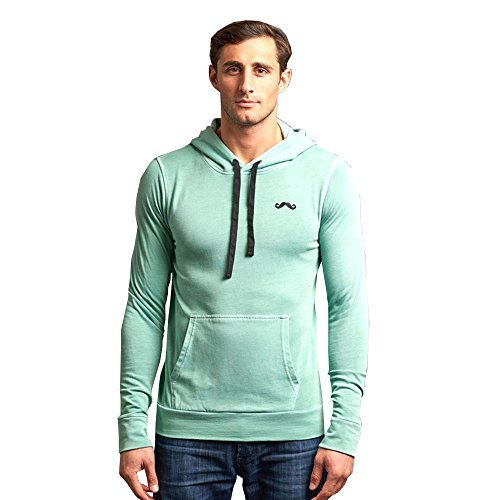 SPENGLISH Men's Classic Vintage Pull-over Hoody in Mint Size: XL