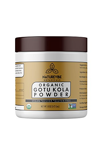 Organic Gotu Kola Powder (8 Ounce), Centella Asiatica | Gluten Free and Non-GMO | Ayurvedic Herbal Supplement | Supports Nervous System | Improves Overall Health