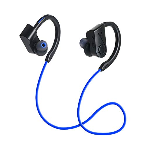 Price comparison product image Insaneness Active Noise Cancelling Wireless Bluetooth4 Portable Headphones .2 Neckband Mic Sports for iPhone / Samsung (Blue)