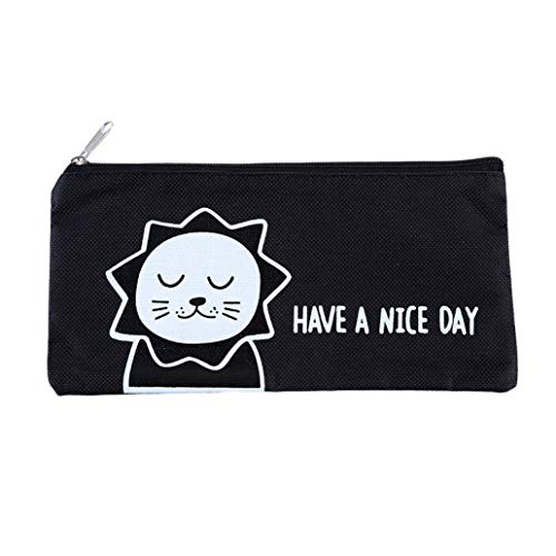 KISSFRIDAY Cute canvas office supplies storage bag cartoon large capacity bag(style 1) by KISSFRIDAY (Image #4)