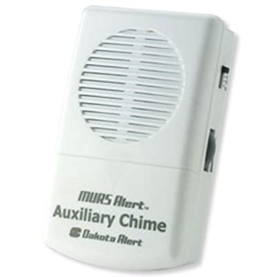 Dakota Alert MURS Wired Doorbell Ring Detector, White (MURS Chime)