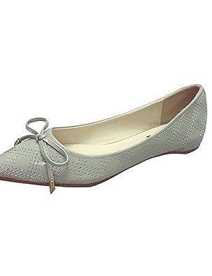 PDX/Damen Schuhe flach Absatz spitz Zehen Wohnungen Schuhe mehr Farben erhältlich, - beige-us7.5 / eu38 / uk5.5 / cn38 - Größe: One Size