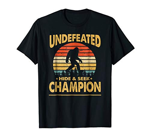 Bigfoot T-shirt Undefeated Hide And Seek Sasquatch Gift