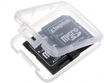 Micro SD SDHC MMC CF Memory Card Plástico Claro soporte caja de ...