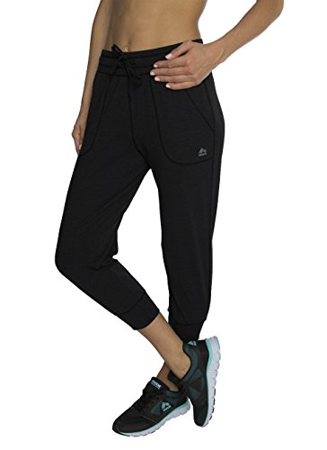RBX Active womens Cotton Jogger Pant,Black,Small