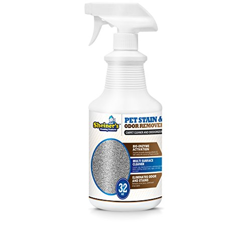 Sheiner's Pet Stain Odor Remover, Professional Strength Enzyme Powered Cleaner (32, 32.00) by Sheiner's