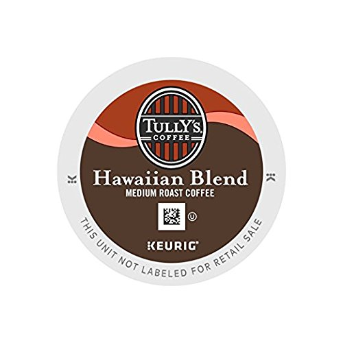 Tully's Hawaiian Blend Medium Roast Coffee 1Pack (100 K-Cup Pods ) Qjled by Tully's Coffee (Image #1)