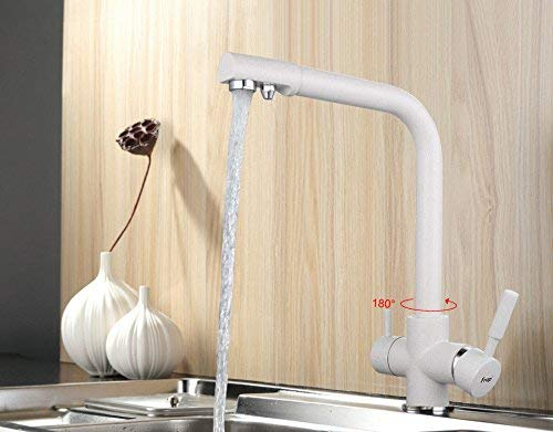 DOJOF Basin Sink Mixer Tap for Lavatory Modern Brass Hot and Cold Water Bathroom Vanity Sink Faucet