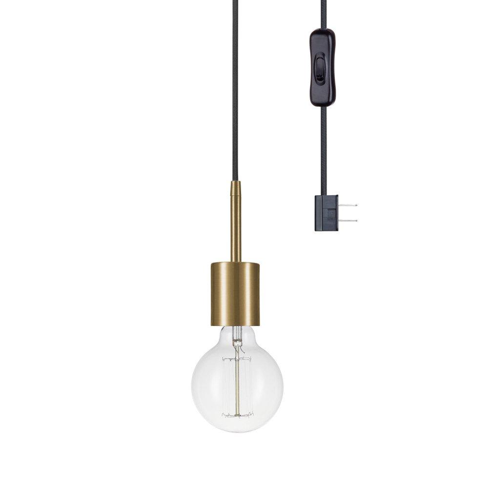Globe Electric 65980 Leila Pendant, 1 Light, Brass