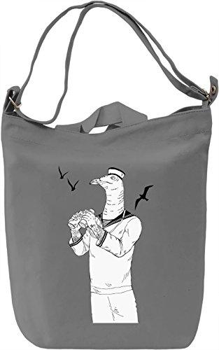 Sailor seagull Borsa Giornaliera Canvas Canvas Day Bag| 100% Premium Cotton Canvas| DTG Printing|