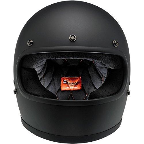 Biltwell Gringo Full Face Helmet (Flat Black, Large)