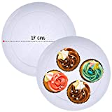 20 Pcs Crystal Clear Hard Plastic Plates (23cm/9') - Elegant Party Plates - Disposable Washable Reusable Recyclable - Perfect for Parties, Weddings, Catering Events, Christmas.