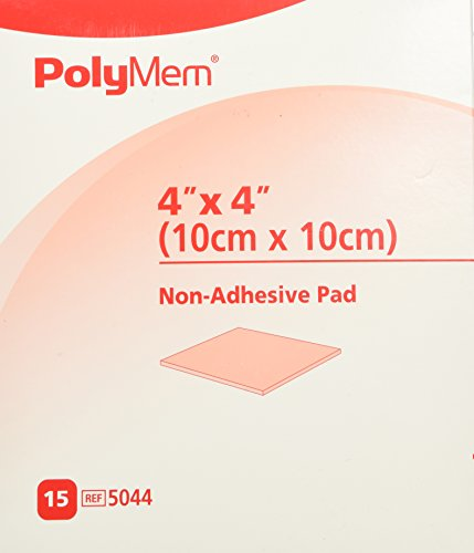 PolyMem Non-Adhesive Wound Dressing, Sterile, Foam, 4' X 4' Pad, 5044 (Box of 15)