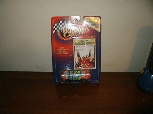 1997 NASCAR Winner's Circle . . . Jeff Gordon #24 Dupont Chevy Monte Carlo 1/64 Diecast . . . $1,000,000 Bonus Car . . . Includes Collector's Card from Nascar