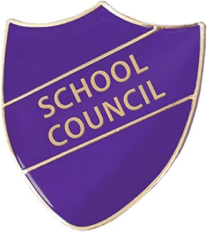 1 Metal Enamel School Council Shield Childrens Pupils School Praise Teachers Reward Badges 30mm Primary Teaching Services (Purple)