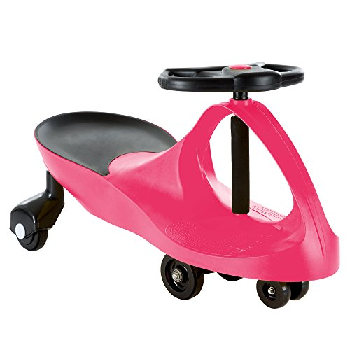 Ride On Car, No Batteries, Gears or Pedals, Uses Twist, Turn, Wiggle Movement to Steer Zigzag Car-Pink, for Toddlers, Kids, 2 Years Old and Up