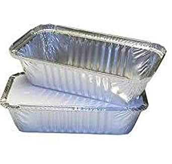 100 x No2 Aluminium Foil Food Containers with Heavy Duty Lids