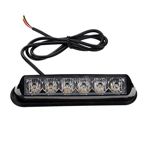 Starnearby Waterproof 18W 115LM 6 White LED Truck Trailer Strobe Side Marker Light (Led Marker Accent Side)