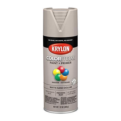 - Krylon K05600007 COLORmaxx Spray Paint, Aerosol, Sand Dollar